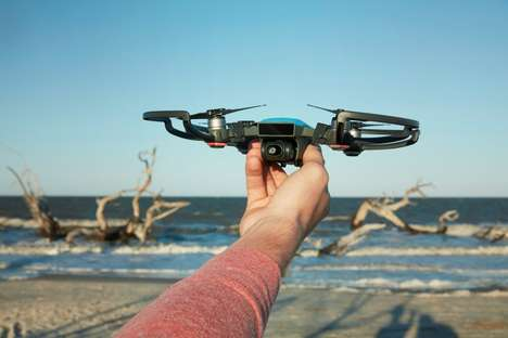 Gesture-Controlled Mini Drones - The Palm-sized DJI Spark Can Be Controlled Via Hand Movements