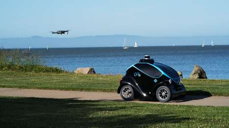 Self-Driving Security Cars - The Otsaw Robotics OR-3 Pairs an Autonomous Car with a Drone