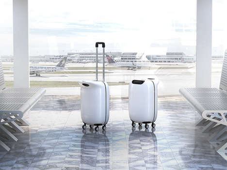 Penguin-Inspired Suitcases - This Rolling Luggage Design Accommodates Extra Baggage on Top