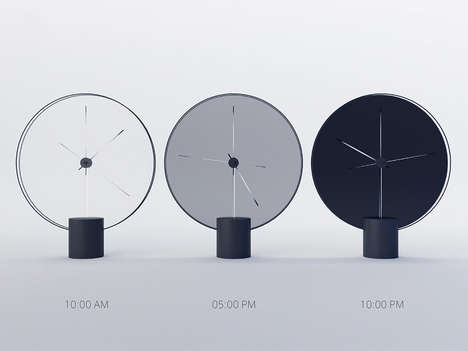 Shade-Shifting Clock Designs - These Minimalist Clocks Change Shade According to the Time of Day