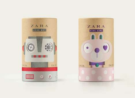 Kid-Friendly Fragrances - Zara's Fragrance for Kids Boasts Playful Packaging That Rotates