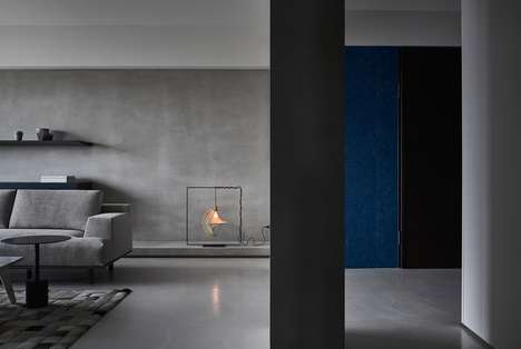 Somber Concrete Apartments - Wei Yi International Designed This Taiwan Apartment for an Elder