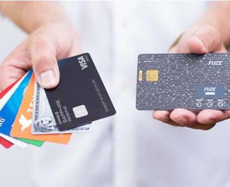 Wall-Replacing Smart Cards