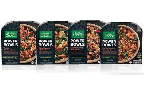Artisan-Inspired Microwaveable Meals - The Healthy Choice Power Bowls Balance Flavor with Nutrition