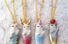 Obscure Cat-Mermaid Pendants