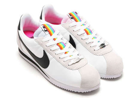 Retro Rainbow Sneakers - The Nike Be True Shoes Feature a Rainbow Stripe to Celebrate Pride Month