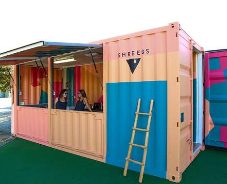 Artistic Shipping Container Cafes