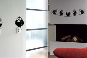 Ingenious Vinyl Wall Stickers Liven Up Interior Decor With Fake Animals