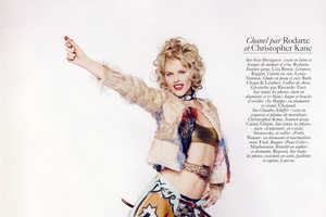 Claudia Schiffer and Eva Herzigova Get Intimate for Vogue