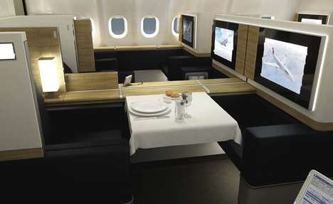 Super-Luxe Airline Suites - Swiss Air Makes Joining the Mile High Club Irresistible
