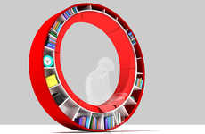 Circular Bookshelves