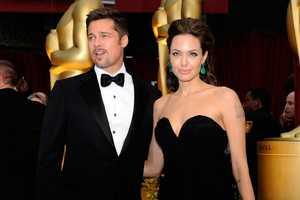Angelina Jolie & Brad Pitt Keep It Black, Simple & Elegant