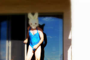 Surreal Self-Portrait Photography With Giant Rabbit Heads