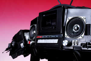Let The AT-AT Boombox Plays Music From The Dark Side