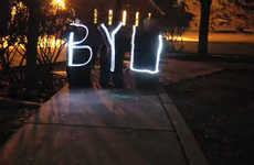 Light Graffiti Campaigning - BYU Students use Stop Motion Photo Techniques For Awareness