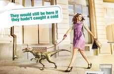 Dinosaurs As Pets - Aspirin Ad Show Us Why the Dinosaur Became Extinct