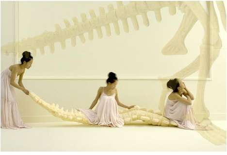 Boney Couches - Life-Size Foam Dinosaur Skeleton for Caveman Fantasies