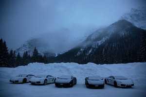 Lamborghini Academy Lets You Drift On a Snowy Track