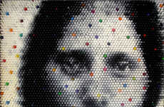 Pixelated Crayon Art - Christian Faur's Hidden 'Fonts' Will Make You Cross-Eyed