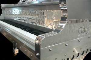 Gary Pons Etched Altuglass Pianos For Sheer Music Madness