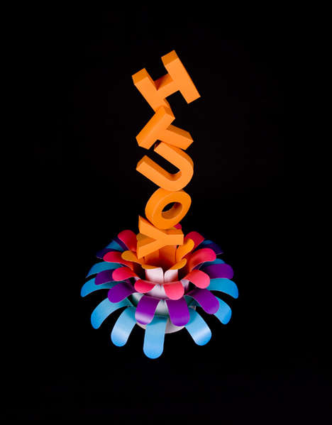 Sculptured Typography - Julien De Repentigny Magnifies Visuals Using Words