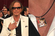 Mickey Rourke Wears Custom-Made Loki Piece to Academy Awards