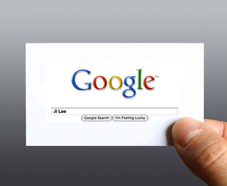 Cocky Self-Promotion - 'Google Me' Business Card is Perfect for the Pretentious