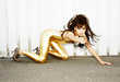 Golden Catsuit Fashion Spreads