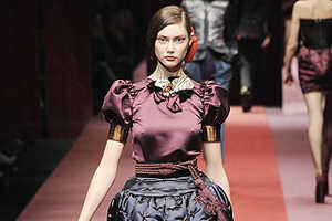 Dolce & Gabbana Fall '09 Makes Miniskirts From Tapestries & Tassels