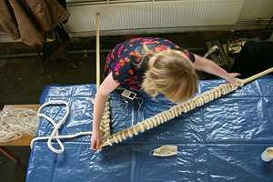 Crocheters Use Super-Sized Tools for Extraordinary Results