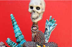 Frightening Sculptures, Totems, Teapots and Vases by Jenny Orchard