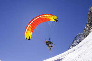 Speedriding is a Mix Between Paragliding and Skiing