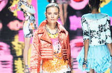 Pop Art Fall Fashion - Blumarine Warhol-Inspired Pastel Brights