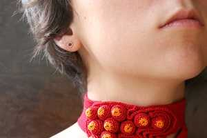 Handmade Freeform Necklaces and Wrist Warmers by Uloni