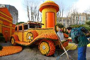 Giant Sour Sculptures Reign at Menton's Lemon Festival