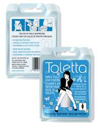 Premium Toilet Seat Covers - Toletta Disposables Make Using Public Loos Less Icky
