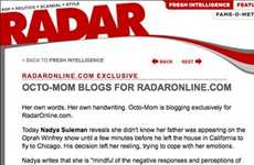 Octomom Bloggers - Nadya Suleman Kicks Off Blogging Career With Radar Online