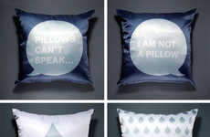Speech Bubble Cushions - Egor Bashakov's Pillows Will Talk You To Sleep