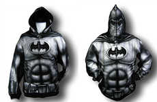 Superhero Simulation Sweatshirt - Full-Fall Batman Hoodie Even Has Peep Holes