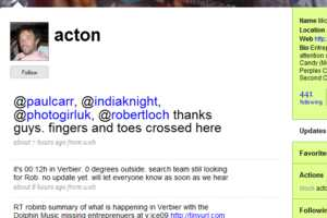 Skiers Tracked Down Via Tweets and Google Maps