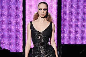 Shoulder Pads and Metallics at Versace Fall 2009