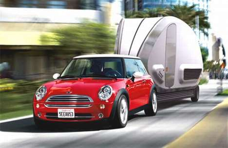 Mini Mobile Homes - '252° Living Area' Trailer Has 5 Expanding Rooms and Travels Easily
