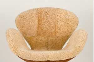 Shearling Swan Chair Lets You Lounge in Luxury