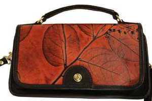 C.L. Whiting's 'Leaf Leather' Fashion Accessories