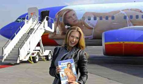 Bikini-Clad Airplanes - Sports Illustrated Sponsored Boeing Has Swimsuit Models On Planes
