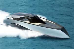 Luxury Speed Boat by Andrew Bedov Slices Through Water