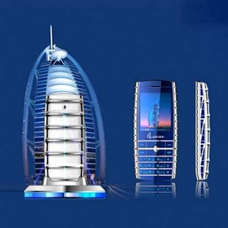 Architecture-Inspired Phones - The SBNP-N90 Looks like the Burj Al Arab in Dubai