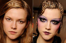 Contrasting Makeup Mods - Models Before and After Hitting the Runway, With and Sans Makeup