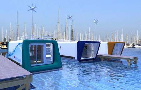 Floating Offices - The Recession Buster H2Office Lets You Work on Water