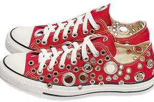 Worn Converse All Star Shoes Glammed Up By Gienchi